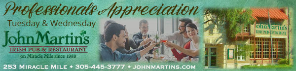 Professionals Appreciation - Tuesday and Wednesday at JohnMartin's