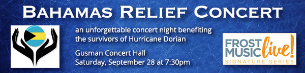 Bahamas Relief Concert at Gusman Hall