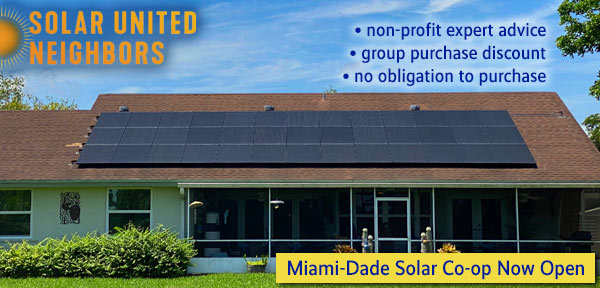 Miami-Dade Solar Co-Op -- Solar United Neighbors of Florida